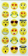 Emoji Epoxy Smiley Aufkleber 18 Stück