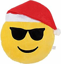 Emoji Kissen Cooler Nikolaus Weihnachtskissen
