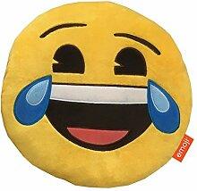Emoji-Kissen, Plüsch Happy Tränen Multi