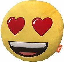 Emoji-Kissen, Plüsch Herz Augen Multi