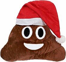 Emoji Kissen Poo Weihnachtsmann Nikolaus (ki-49)