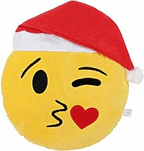 Emoji Kissen Weihnachtskissen (ki-51) 33 cm