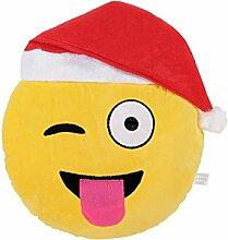 Emoji Kissen Zunge Raus Emoticon (ki50)