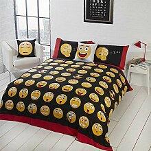 Emoji Omg Lol Happy Angry Schwarz Baumwollmischung