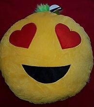 Emoji Smiley Kissen Gelb EMOTICON 30cm (Emoji