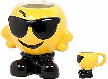 Emoji Smiley Tasse, Variante wählen:78/8248 Cool