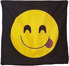 Emoji-Zunge tonghue Emoticon Kissenbezug Kissen