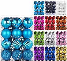 Emopeak 24 Stück Weihnachtskugeln Ornamente für