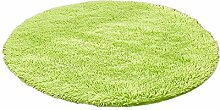 Emorias 1 Stück Bodenmatte rund Shaggy Teppich