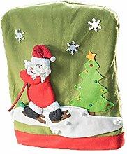 Emorias 1 Stück Stuhlhussen Weihnachten Festival