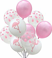Emorias 10PCs Luftballons Rosa Wellenpunkt Latex
