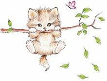 Emorias 1PCS Wandaufkleber Nette kleine Katze