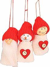 Emorias 3 Pcs Weihnachtsanhänger Puppe Dekoration