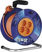 EMOS Kabeltrommel Schuko, 20m Kabel mit 1mm