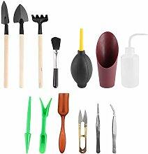 Emoshayoga 13 Stück Mini Garden Handwerkzeuge