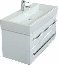Emotion DURAVITVERO100CM000101DE Waschbecken mit Unterschrank, Holz, weiß hochglanz, 100 x 45 x 47 cm