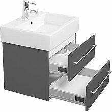 Emotion DURAVITVERO60CM000104DE Waschbecken mit Unterschrank, Holz, anthrazit seidenglanz, 55,1 x 45 x 44,9 cm
