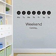 Emotion Smiley Weekend Positive Raum Aufkleber PVC
