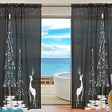 Emoya 2 Panels Fenster Treatment Gardine