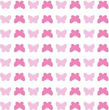 empaper BU701Schmetterling Tapete, Pink