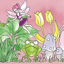 empaper tk624Magical Garden Tapete, Pink