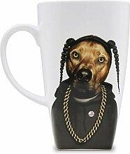 Empire Art Direct White Coffee Pets Rock Rap Tasse