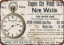 Empire City Watches Blechschild Retro Blech Metall