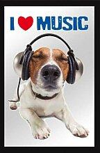 empireposter 632586 Hunde - I Love Music -