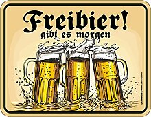 empireposter Bier - Freibier - Blechschild mit