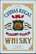 empireposter - Chivas Regal - Whisky - Größe (cm), ca. 20x30 - Bedruckter Spiegel, NEU - Beschreibung: - Bedruckter Wandspiegel mit schwarzem Kunststoffrahmen in Holzoptik -