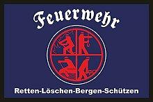 empireposter Feuerwehr Logo - Fussmatte -