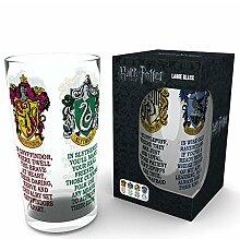 empireposter Harry Potter House Crests Bierglas