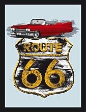 empireposter - Route 66 - Cadillac - Größe (cm),