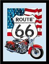 empireposter - Route 66 - Icons - Größe (cm),