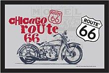 empireposter - Route 66 - Motorrad - Größe (cm),