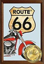 Empireposter - Route 66 - Rotes Bike - Größe