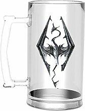 empireposter Skyrim - Dragon Symbol - Glas