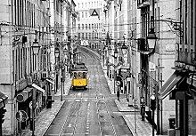 empireposter Streets of Lisbon - Vlies Foto-Tapete