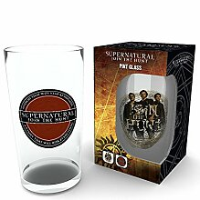 empireposter Supernatural - Logo - Glas 500 ml,
