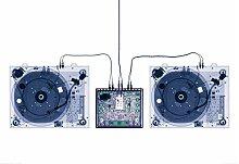 empireposter X-Ray DJ Decks Foto-Tapete 2-teilig -