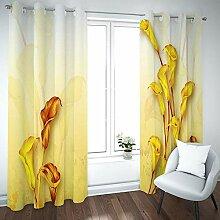 empty Vorhang jugendzimmer mädchen Gelbe Blumen