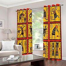empty Vorhang Kinder Abstrakte Figur Thermovorhang