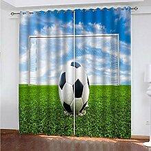 empty Vorhang Kinder Sportstil, Fußball