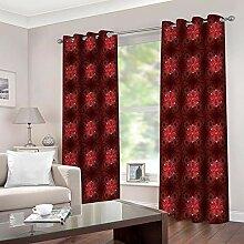 empty Vorhang kinderzimmer mädchen rote Blumen