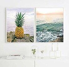 Empty WXDQ Plakate und Drucke Ananas Brief