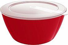 Emsa Schüssel Vorratsdose mit Deckel 2 Liter Ø 19.5 cm myColour Savio (Rot)