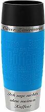 Emsa Thermobecher Travel Mug Wasserblau 360 ml mit