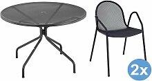 Emu Cambi Round Gartenset 120 Tisch + 2 Stühle