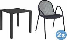 Emu Nova Gartenset 80x80 Tisch + 2 Stühle