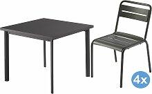 Emu Star Gartenset 90x90 Tisch + 4 Stühle (Chair)
